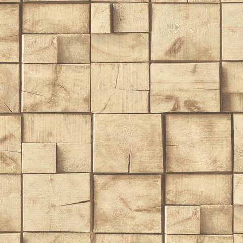 Wooden Block Wallpaper J84407