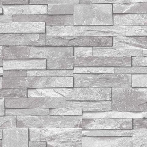 Ideco Stone Wall, Wallpaper Light Grey A17202
