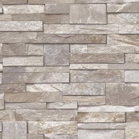 Ideco Stone Wall, Wallpaper Chocolate  A17204