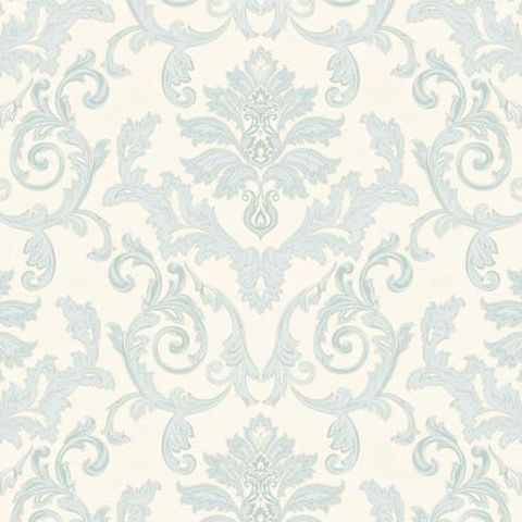 Grandeco Estelle Damask Wallpaper AT17801 Teal