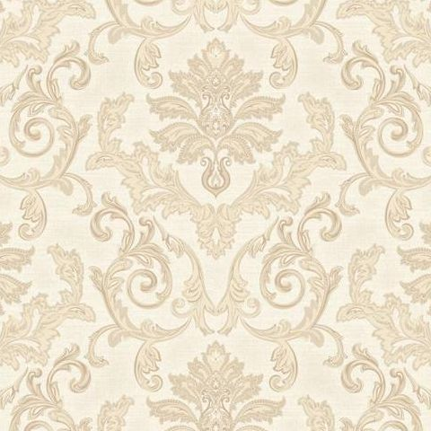 Grandeco Estelle Damask Wallpaper AT17802 Gold