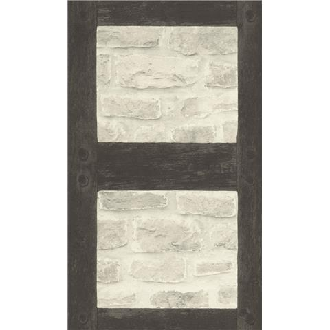Barbara Becker Whitewash Brick with Tudor Beams Wallpaper 860504