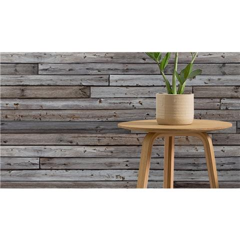 Grandeco One Roll Wall Horizontal wood panel A34801