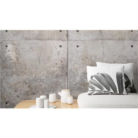 Grandeco One Roll Wall Mural Concrete blocks A34901
