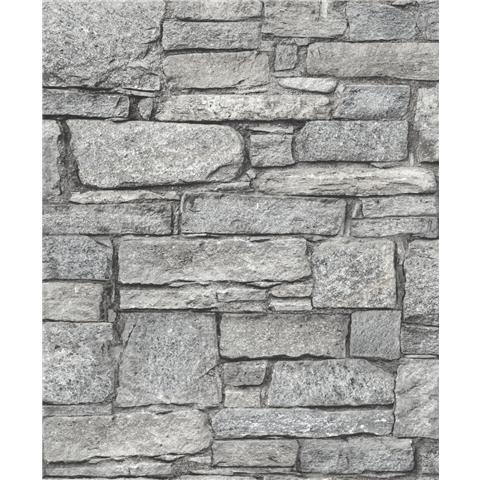 GrandecoLife Perspectives Chalet Stone Wallpaper A37001 Grey