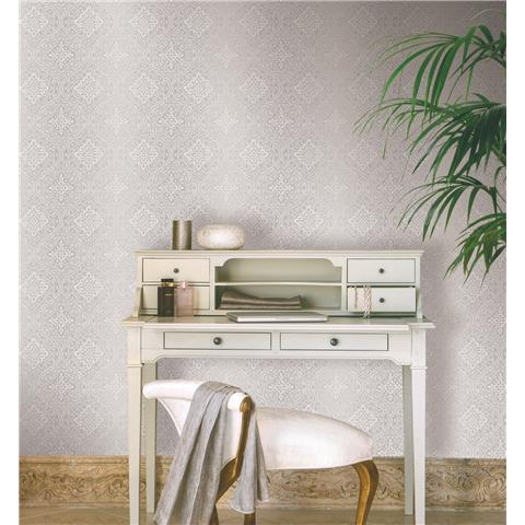 GranDeco Life Delphi damask Wallpaper A37905 taupe