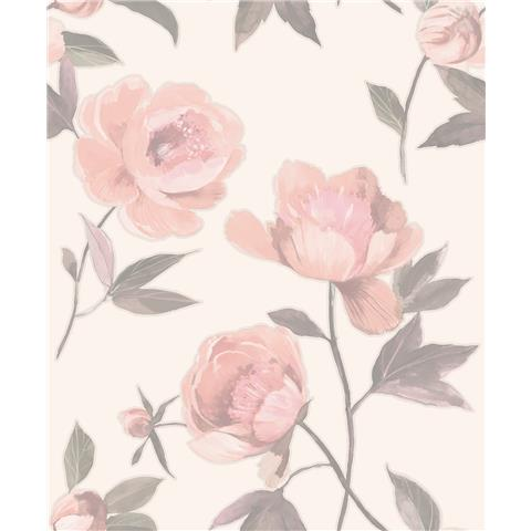 GranDeco Life Florence large Floral Wallpaper A41203 blush