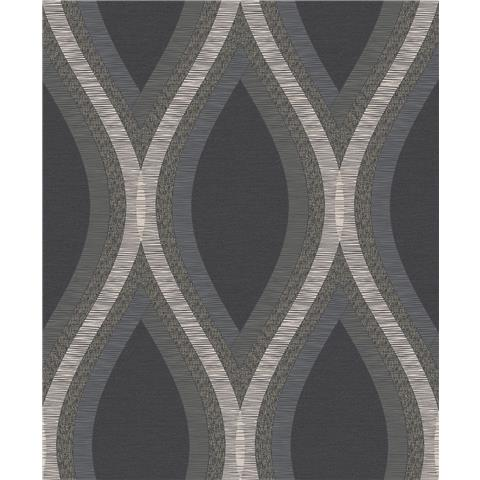 Grandeco Life Contemporary Style wallpaper A44501 Black