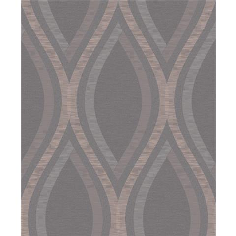 Grandeco Life Contemporary Style wallpaper A44502 Charcoal/gold
