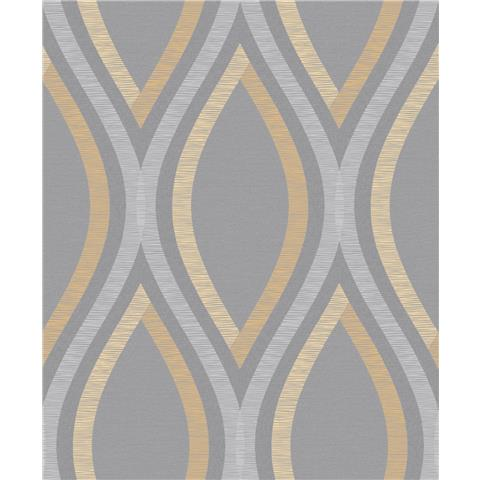 Grandeco Life Contemporary Style wallpaper A44503 yellow