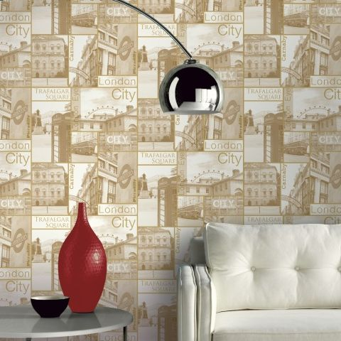 Arthouse Carnaby Street Wallpaper Sepia