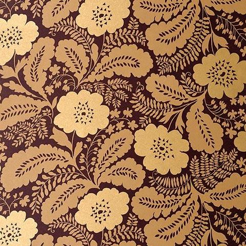 Anna French Wild Flora Ash Wallpaper-Gold/Brown