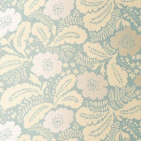 Anna French Wild Flora Ash Wallpaper-Celadon