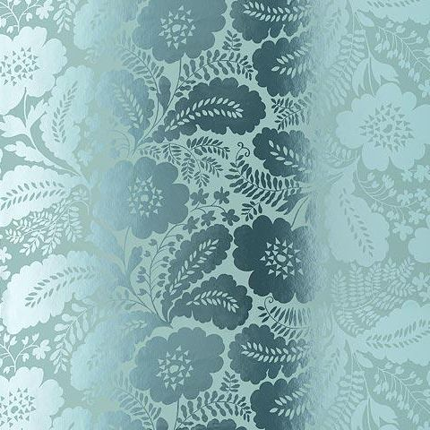 Anna French Wild Flora Ash Wallpaper-Blue/Foil