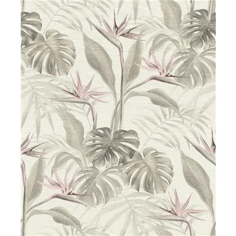 Rasch mandalay Palm wallpaper 5290005-1033 taupe/pink