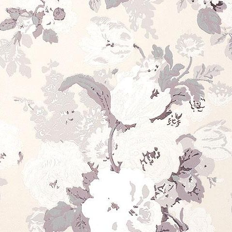 Anna French Wild Flora Bouquet Wallpaper-Chalk