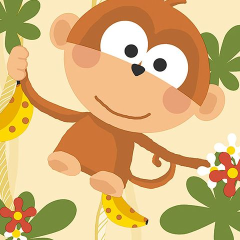 Cheeky Monkey Vinyl Wallpaper CM28601