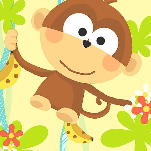Cheeky Monkey Vinyl Wallpaper CM28603