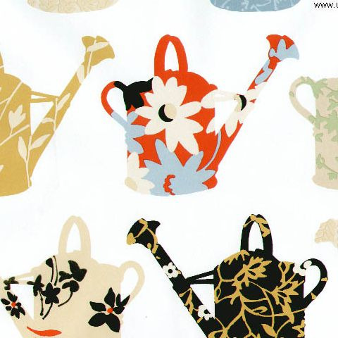 Kitchen Concepts Vinyl Wallpaper CU25966 Watering Cans