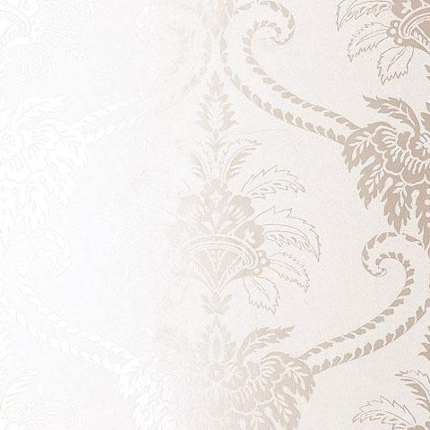 Anna French Wild Flora Damask Wallpaper-White/White