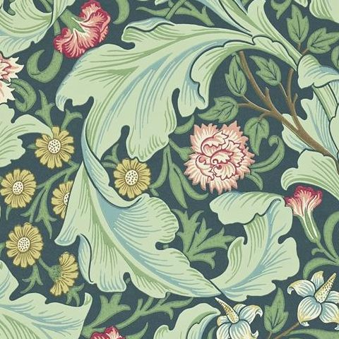 Morris & Co Wallpaper-Leicester 212541 Woad/Sage