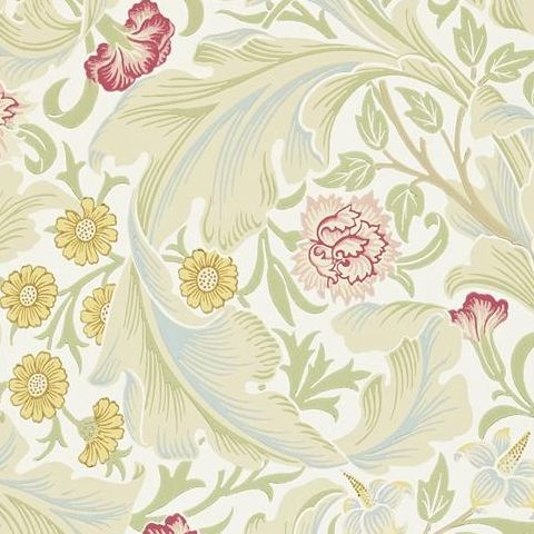 Morris & Co Wallpaper-Leicester 212544 Marble/Rose
