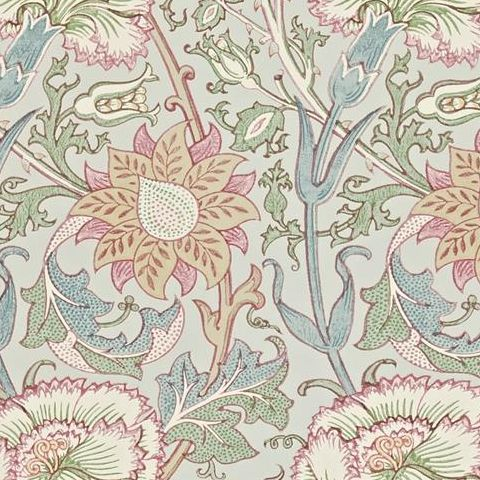 Morris & Co Wallpaper-Pink and Rose 212568 Eggshell/Rose