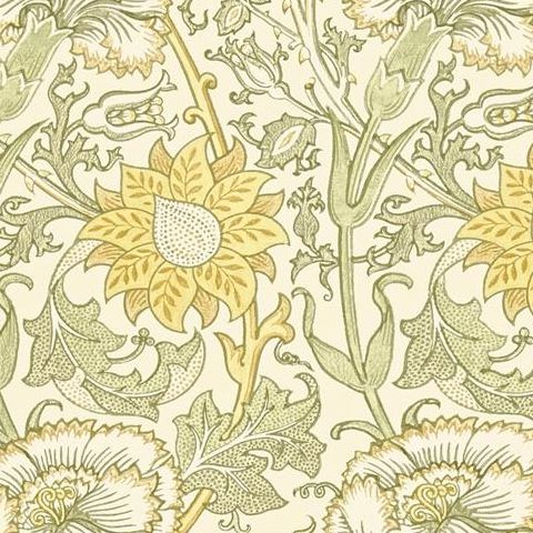 Morris & Co Wallpaper-Pink and Rose 212569 Cowslip/Fennel