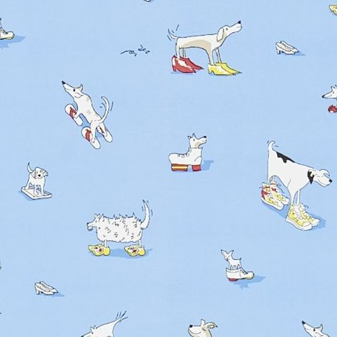 Little Sanderson Abracazoo Wallpaper-Dogs in Clogs 214011