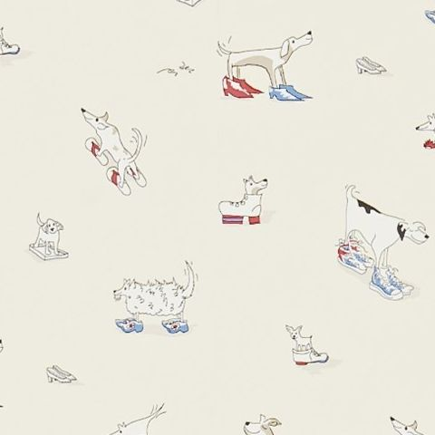 Little Sanderson Abracazoo Wallpaper-Dogs in Clogs 214013