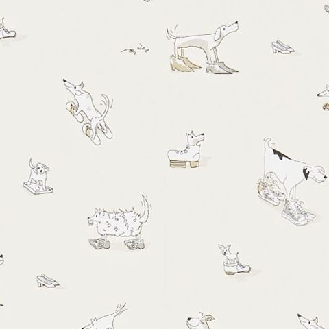 Little Sanderson Abracazoo Wallpaper-Dogs in Clogs 214014