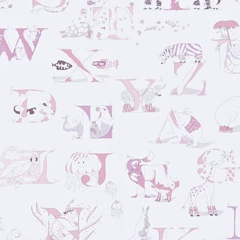 Little Sanderson Abracazoo Wallpaper-Alphabet Zoo 214024