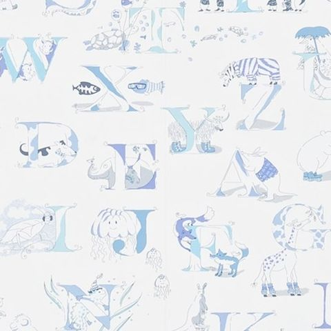 Little Sanderson Abracazoo Wallpaper-Alphabet Zoo 214025