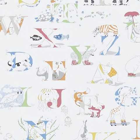 Little Sanderson Abracazoo Wallpaper-Alphabet Zoo 214026