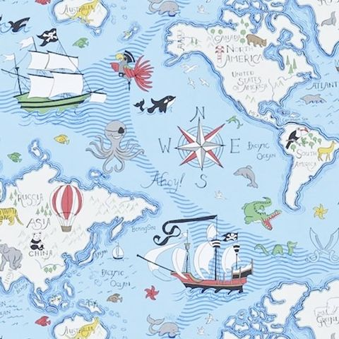 Little Sanderson Abracazoo Wallpaper-Treasure Map 214038