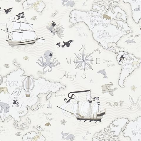 Little Sanderson Abracazoo Wallpaper-Treasure Map 214039