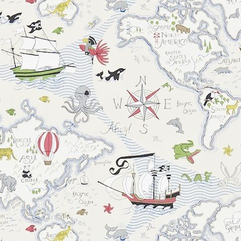 Little Sanderson Abracazoo Wallpaper-Treasure Map 214040
