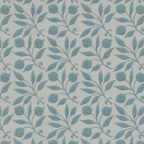 Morris & Co Wallpaper-Rosehip 214710 Mineral Blue