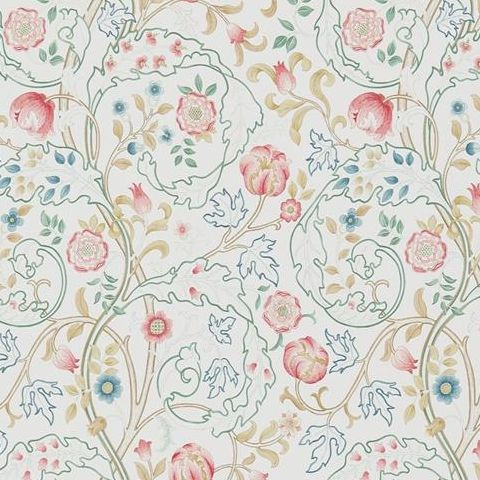 Morris & Co Wallpaper-Mary Isobel 214728 Pink/Ivory