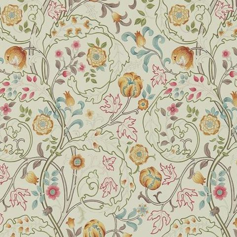 Morris & Co Wallpaper-Mary Isobel 214730 Russet/Taupe