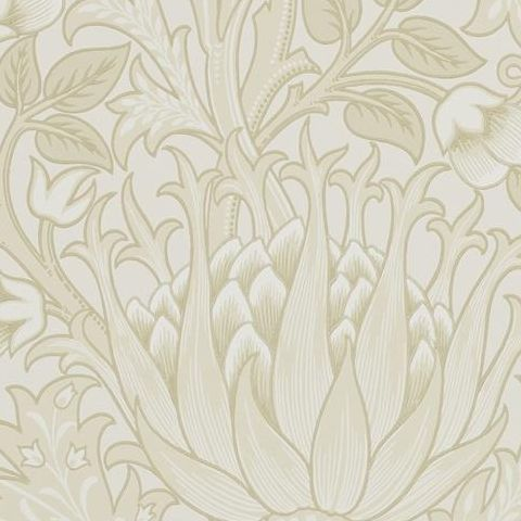 Morris & Co Wallpaper-Artichoke 210353 Vellum