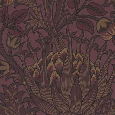 Morris & Co Wallpaper-Artichoke 210355 Wine