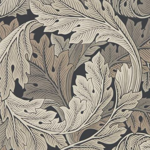 Morris & Co Wallpaper-Acanthus 216442 Charcoal/Grey