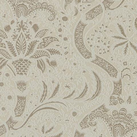 Morris & Co Wallpaper-Indian 216443 Stone/Linen (Beaded)