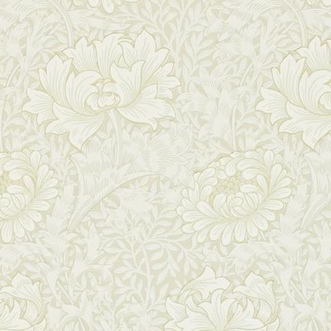 Morris & Co Wallpaper-Chrsyanthemum 216457 Chalk