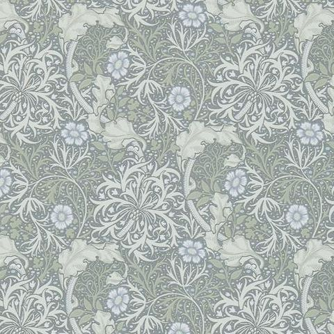 Morris & Co Wallpaper-Seaweed 216467 Silver/Ecru