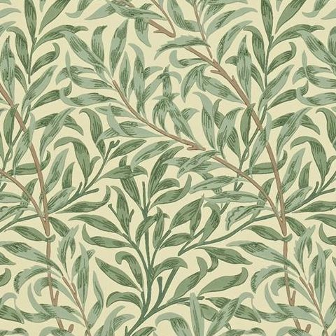 Morris & Co Wallpaper-Willow Boughs 216480 Green