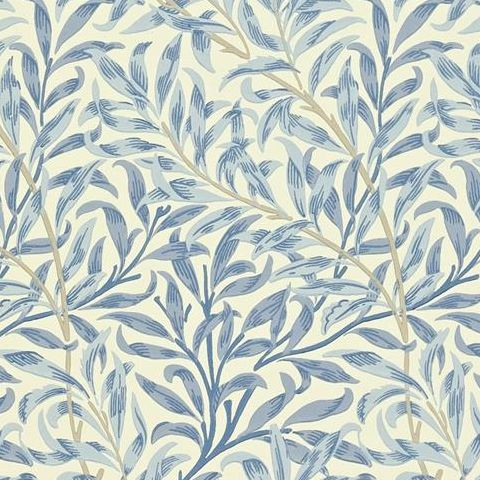 Morris & Co Wallpaper-Willow Boughs 216481 Blue
