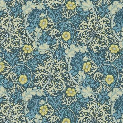 Morris & Co Wallpaper-Seaweed 216485 Ink/Woad