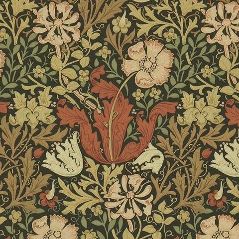 Morris & Co Wallpaper-Compton 210420 Brown/Orange